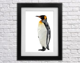 Penguin Low Poly Print