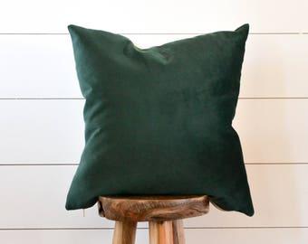 Velvet Pillow, Emerald Green Pillow, Green Velvet Pillow Cover