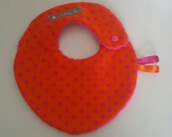 Small orange pink polka dot