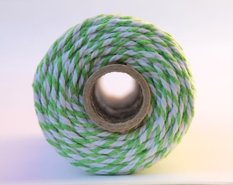 12 Ply Lime Green Bakers Twine 100 yard spool 12 Ply Thick Cotton String- Birthday Baby Shower Wedding