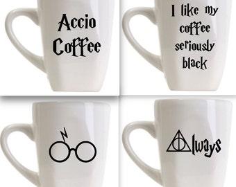 Harry Potter Coffee Mug/ Harry Potter gift/ Stocking Stuffer/ Harry Potter Birthday/ gift for boy/ gift for her/ geeky gift
