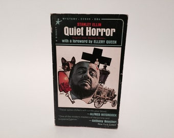 Vintage Mystery Book Quiet Horror by Stanley Ellin 1965 Paperback Anthology