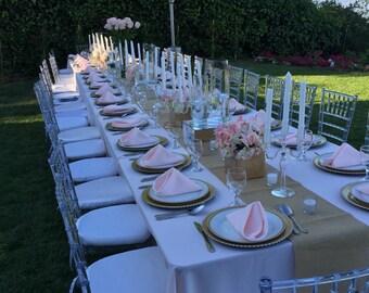 Burlap Table Runner, jute burlap, wedding rable runner, rustic, runner, wedding decor, baby shower, beach wedding