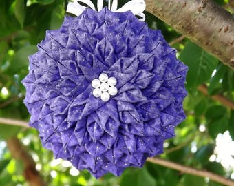 Dahlia Flower Quilted Ornament