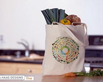 Seasonal Food Guide Tote Bag (Custom Order)