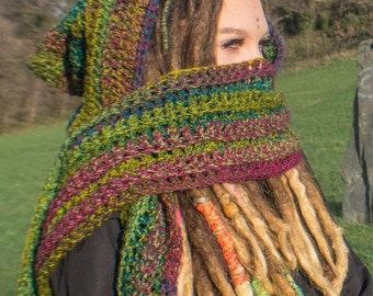 Forest pixie hooded scarf