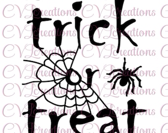 Trick or Treat Halloween Spiderweb SVG PNG