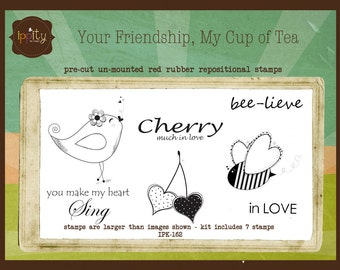 CLEARANCE Ippity Stamps - Your Friendship, My Cup of Tea