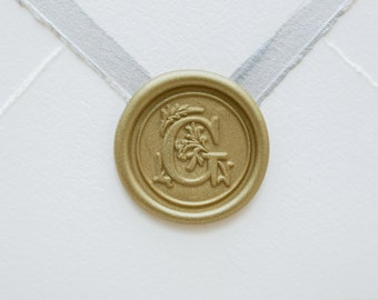 G Letter Wax Seal | Initial Wax Seal Stamp