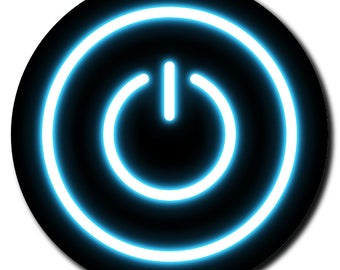 Glowing Power Button Sandstone Coaster