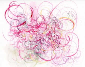 Scattered Thoughts of Love - Contemporary Watercolor Abstract Large Format