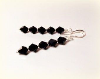 Sparkling Black Crystal Earrings