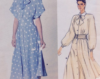 Vogue Patterns 1375 misses dress by American Designer Albert Nipon size 14 bust 36 vintage 1980's sewing pattern  Uncut  Factory folds