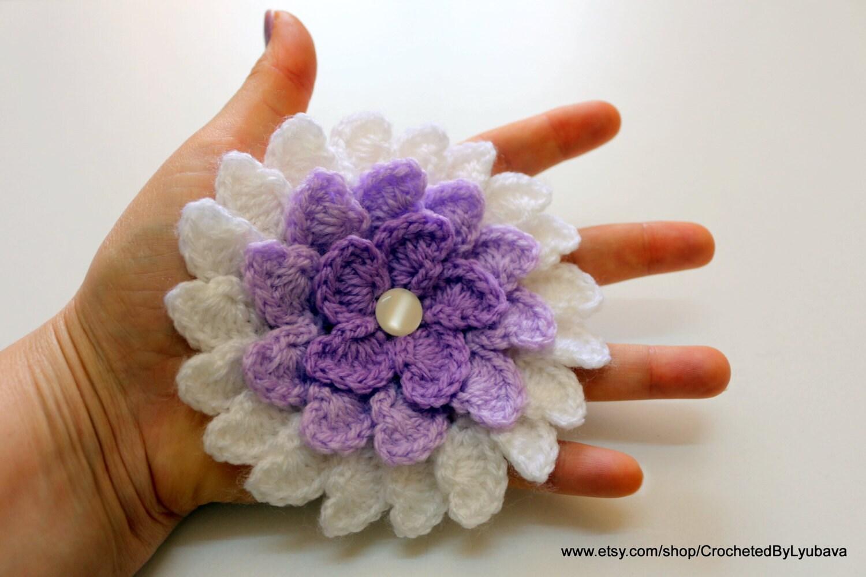 Exelent Crochet Big Flower Pattern Ensign - Sewing Pattern for ...