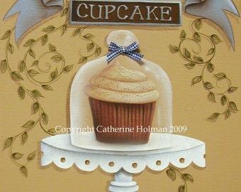 Cupcake Art Print Snickerdoodle by Catherine Holman