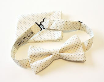 bow tie and Pocket ivory and gold
