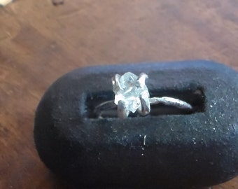 Natural Diamond Solitiare in Sterling
