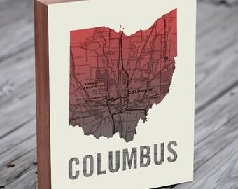 Columbus Ohio - Columbus Wall Art - Columbus Ohio Prints - Columbus Sign
