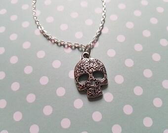 Sugar skull bracelet, Skull bracelet, Charm bracelet, Alternative jewellery, Halloween, Skeleton, Skull, Horror, Gothic, Goth, Sugar skull
