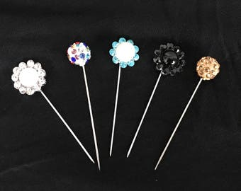 5 piece Couture Pins Hijab straight long hat pins scarf #1