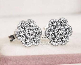Jewelry Earrings S925 Sterling Silver Wedding Engagement Crystallised Floral Stud Earrings For Women Jewelry