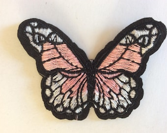 Embroidered butterfly appliqué, approx 4*7cm