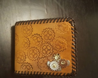 Leatger Laced Steampunk Wallet