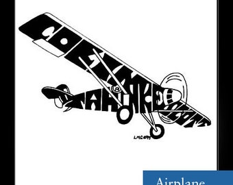 Personalized Silhouette Airplane