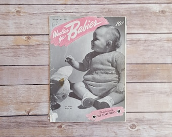 Woolies For Babies Baby Wool Pattern Booklet Newborn Outfits Kids Wool Baby Clothes Newborn Baby Gift To Make Chadwick's 1940s Textile Book
