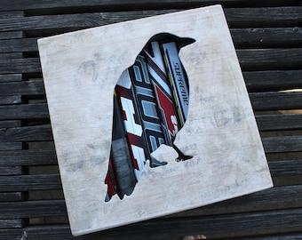 """12x12"""" Crow Reclaimed Hockey Stick Shadow Box"""
