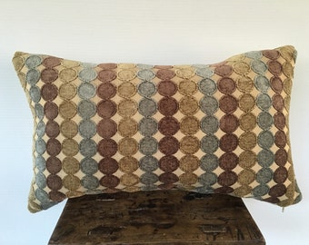 Designer Pillow COVER, Chenille pillow cover, Decorative Deluxe Circles pattern pillow cover