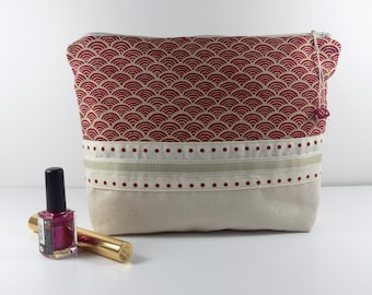Toiletry bag Suede, Japanese cotton