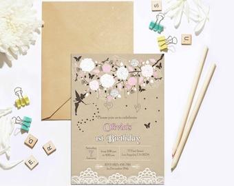 Fairy Birthday Invitation, Woodland Fairy Invitation, Enchanted Forest Fairy Invitation, Garden Fairy Party Invitation, Fairy Party Invite