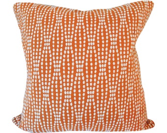 Waverly Orange Dot Strands Tiger Lily Decorative Pillow Cover - Reversible Fabric - Throw Pillow - Both Sides - ALL SIZES AVAILABLE