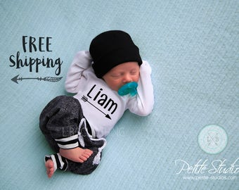 Custom baby gifts etsy personalized newborn hospital outfit baby boy coming home outfit newborn boy take home outfit baby boy newborn boy custom baby gift negle Gallery
