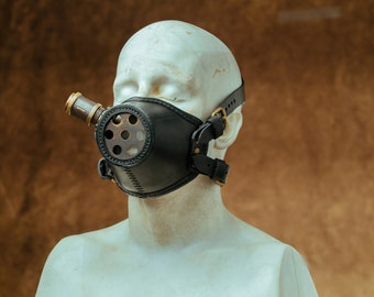 Steampunk Mask Leather Respirator Motorcycle Gas Mask