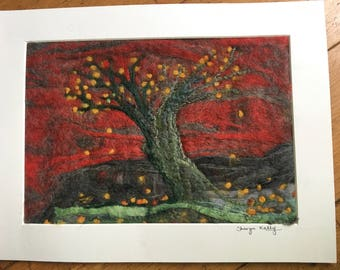 Autumn Glow needlefelt picture
