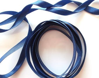 SATIN Ribbon colours Navy Blue length 5 meters REF. 2
