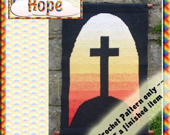 PDF Crochet Pattern Hope Tapestry Wall Hanging