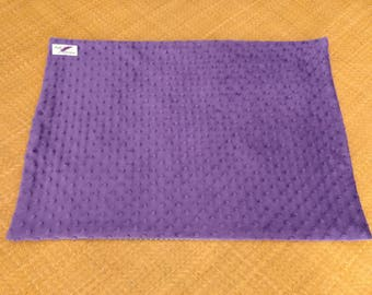 Portable Waterproof Baby Change Mat / diaper changing pad / nappy changing mat/minky dot change mat- purple