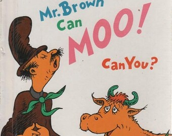 BTS Mr. Brown Can Moo! Can You? Dr. Seuss's Book of Wonderful Noises 1957