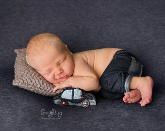Newborn Boy Pants, Baby Jeans, Newborn Photo Prop, Newborn Boy Outfit, Newborn Pants Prop, Denim Pants, Photo Props, Baby Outfit, Cuddle Car