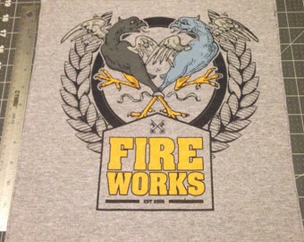Fire Works back patch