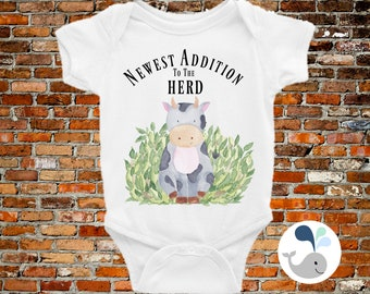 ON SALE Newest Edition To The Herd Onesie