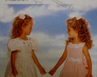 Butterick 4310 Girls Dress and Petticoat Sewing Pattern Size 5-6-6X