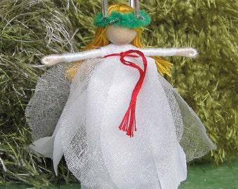 Santa Lucia Christmas fairy - Saint Lucia - Saint Lucy - miniature doll
