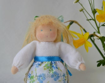 Small Waldorf doll.  Handmade Waldorf doll for the nature table. Felt doll