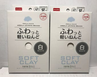 Daiso Soft Clay (White) - 2 Pack