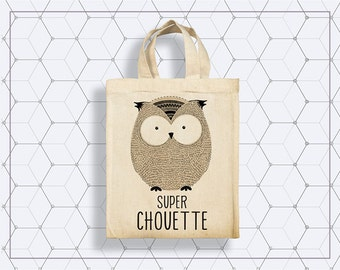 Petit Tote Bag Animaux - Chouette - Tigre - Cerf - Hérisson