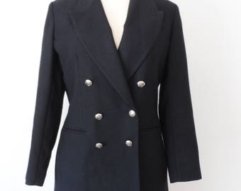 Vintage 90s Jennifer Moore Wool Double Breasted Blazer